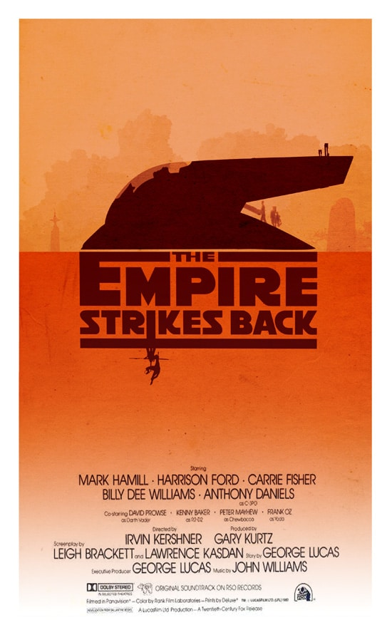 star wars the empire strikes back episode 5 1980 hd printable Poster wallpaper art animation cartoon poster orange