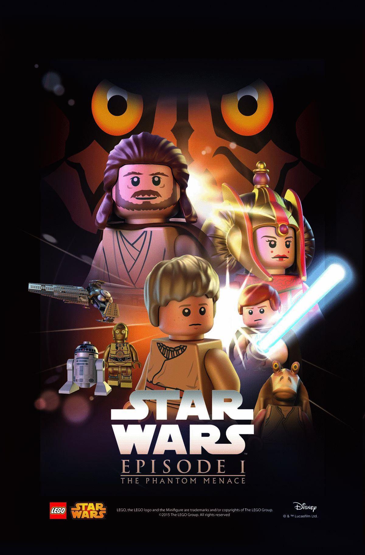 star wars hd printable poster wallpaper episode 1 the phantom menace lego poster