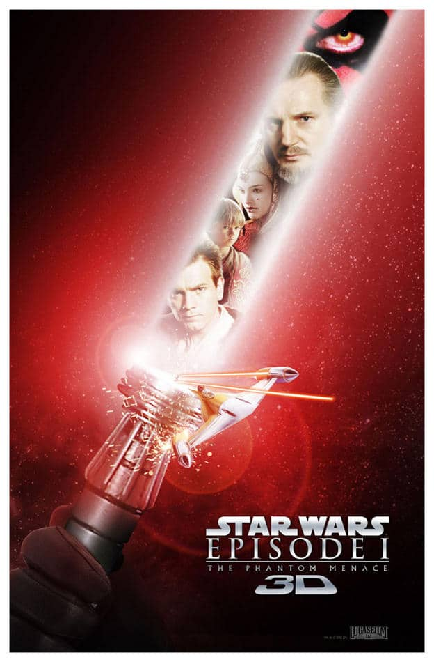 star wars the phantom menace 1999 hd printable poster wallpaper modern poster red lightsaber all characters