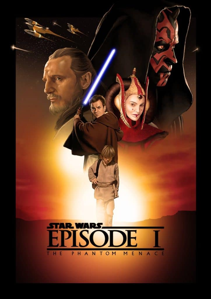 star wars the phantom menace 1999 hd printable poster wallpaper animated cartoon poster art