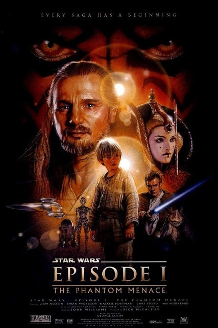 star wars the phantom menace 1999 hd printable poster wallpaper official poster released