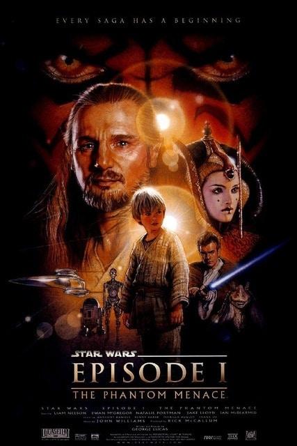 star wars the phantom menace 1999 hd printable poster wallpaper official poster released