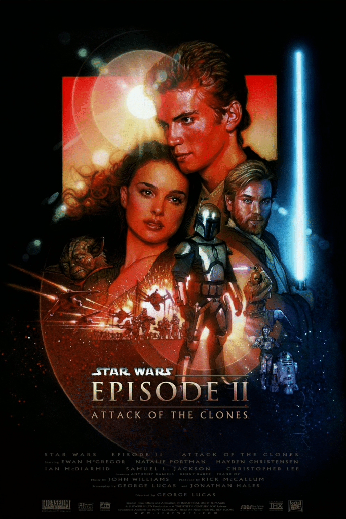 star wars the attack of the clones 2002 hd printable poster wallpaper official old style poster