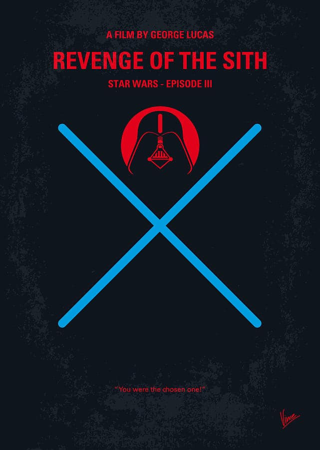 star wars revenge of th sith hd printable poster wallpaper black modern art poster animated