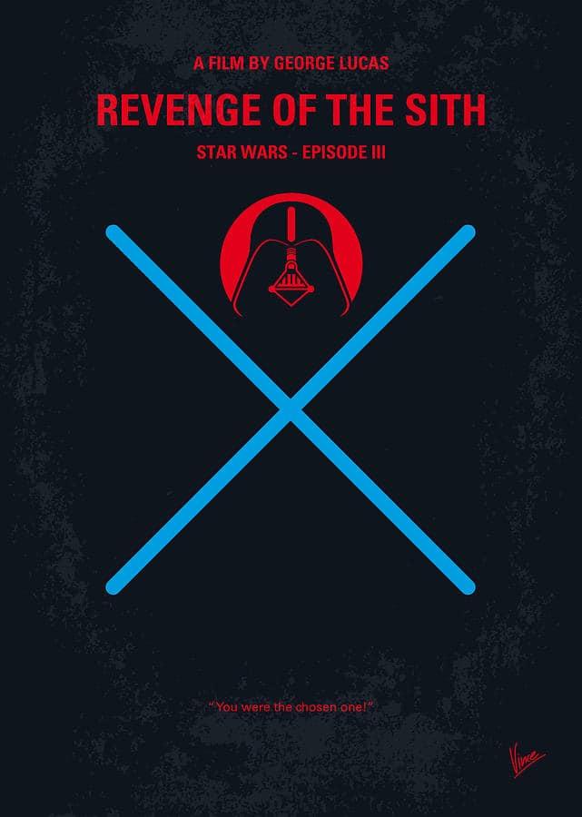 star wars revenge of th sith hd printable poster wallpaper black modern art poster animated