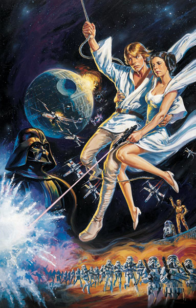 star wars hd printable poster wallpaper episode 4 a new hope old style poster