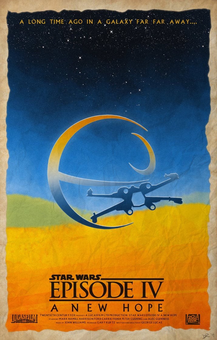 star wars a new hope eipsode 4 1977 hd printable Poster wallpaper art poster
