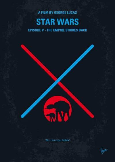 star wars hd printable poster wallpaper episode 5 the empire strikes back cool art animated poster