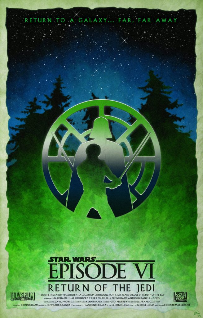 star wars hd printable poster wallpaper return of the jedi green poster