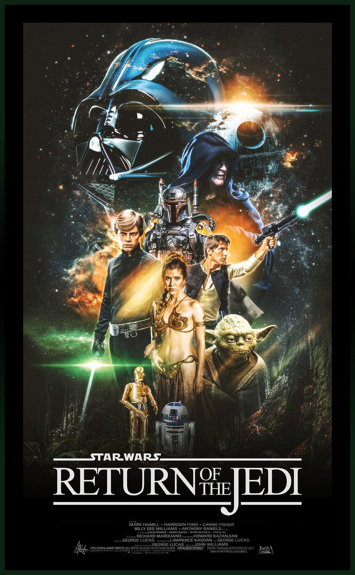 star wars the return of the jedi episode 6 1983 hd printable Poster wallpaper official
