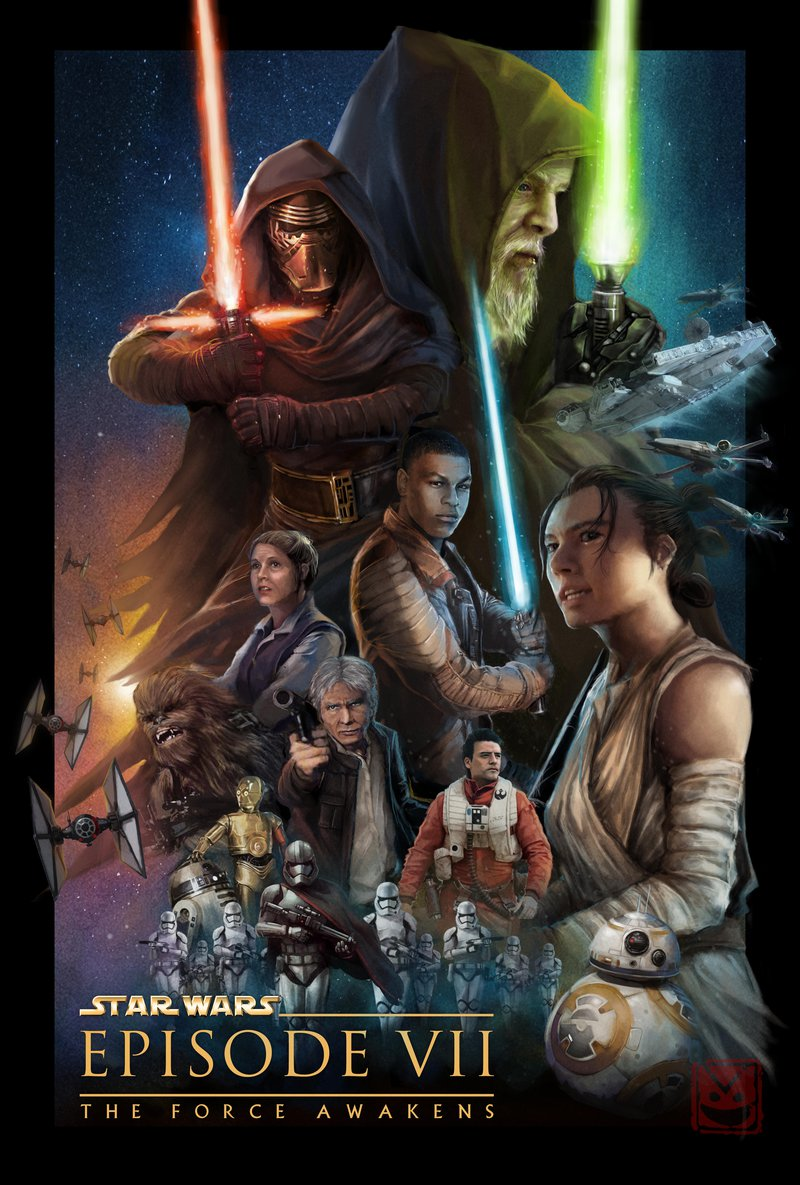 star wars the force awaken 2015 hd printable poster wallpaper art animated poster