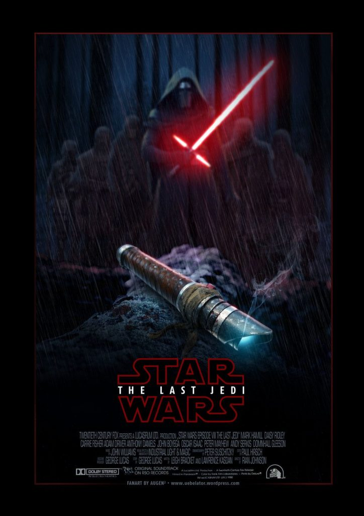 star wars the last jedi 2017 hd printable poster wallpaper villain the broken sword lightsaber