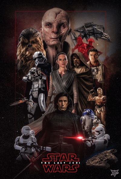 star wars the last jedi 2017 hd printable poster wallpaper all character in one poster