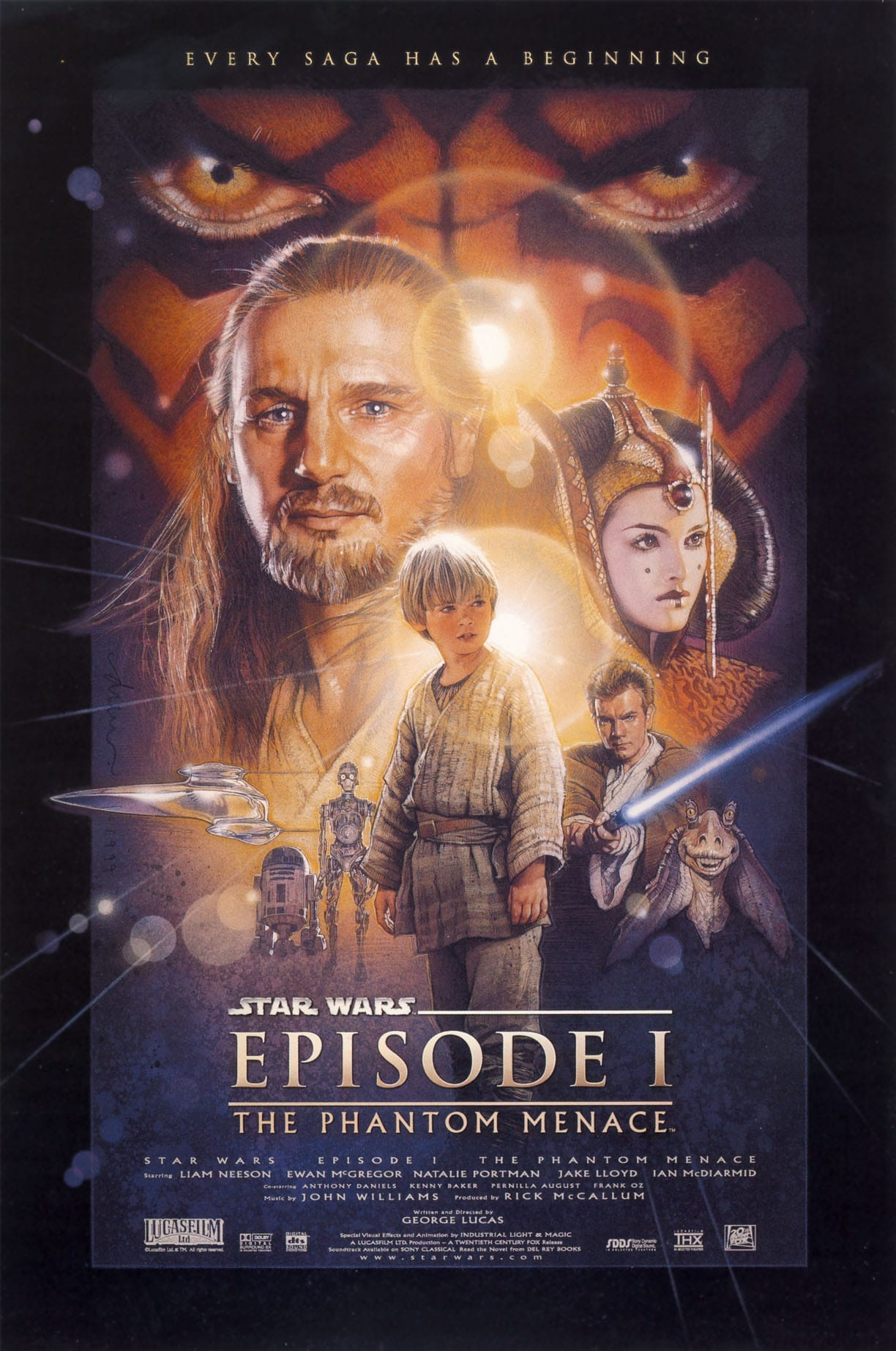 star wars hd printable poster wallpaper episode 1 the phantom menace