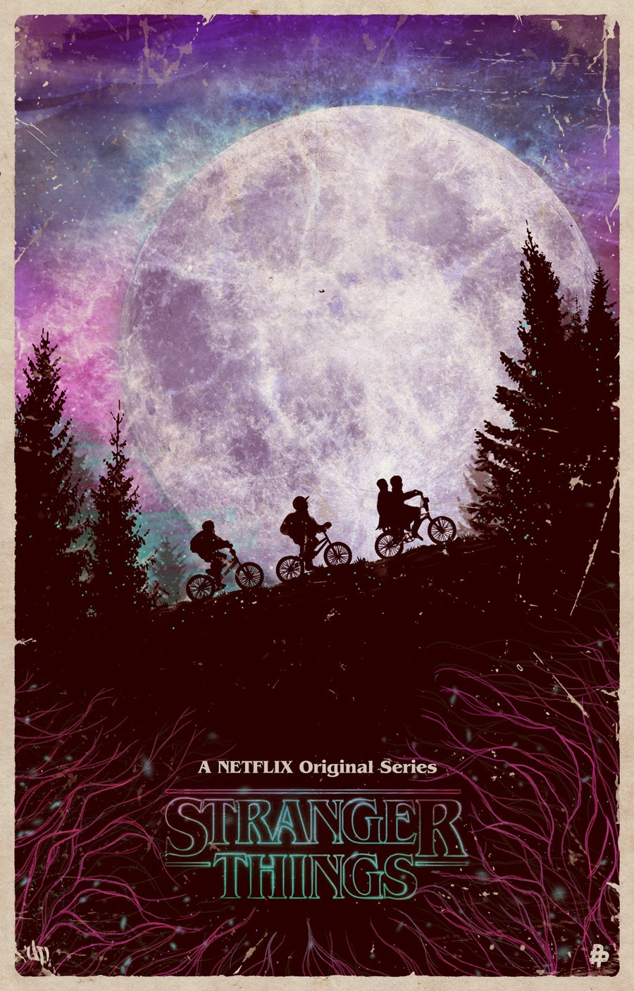 Stranger Things poster Mike Lucas and Dustin