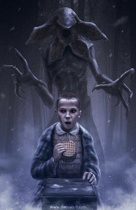 Stranger Things poster monster demogorgon