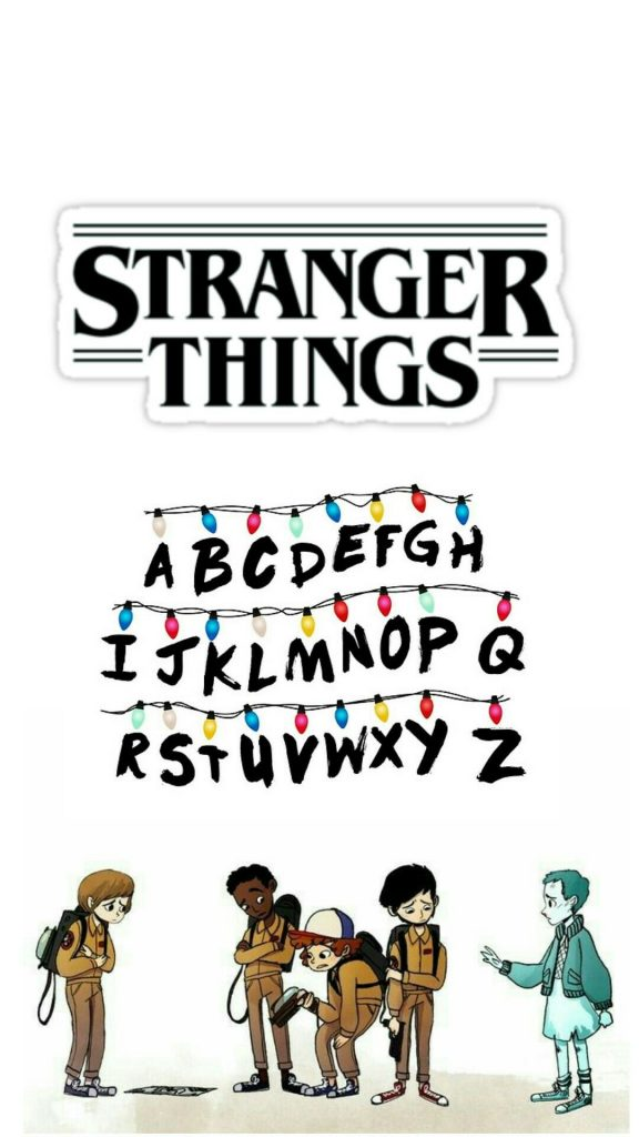 Stranger Things poster cartoon