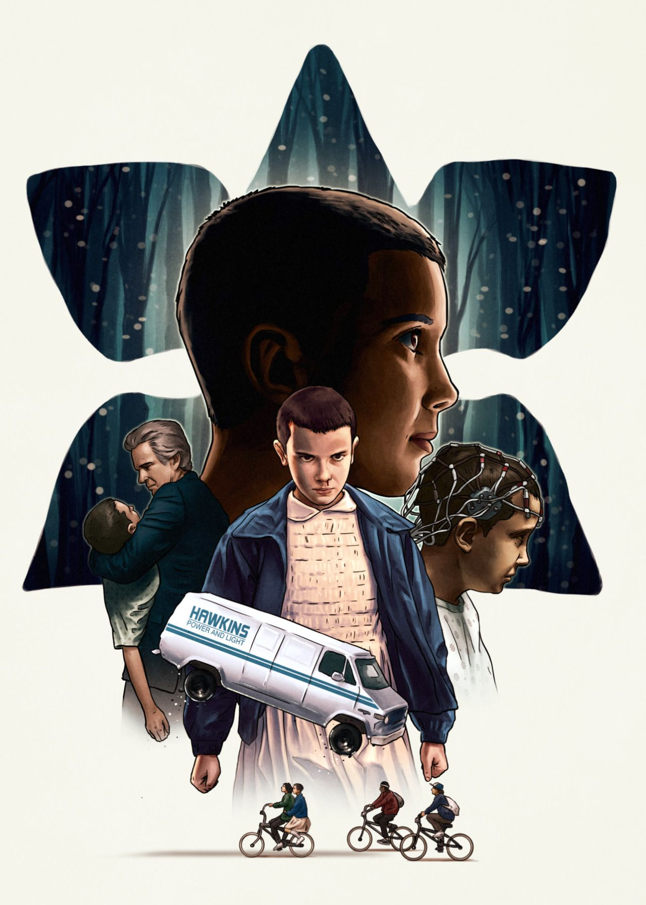 Stranger Things poster friends