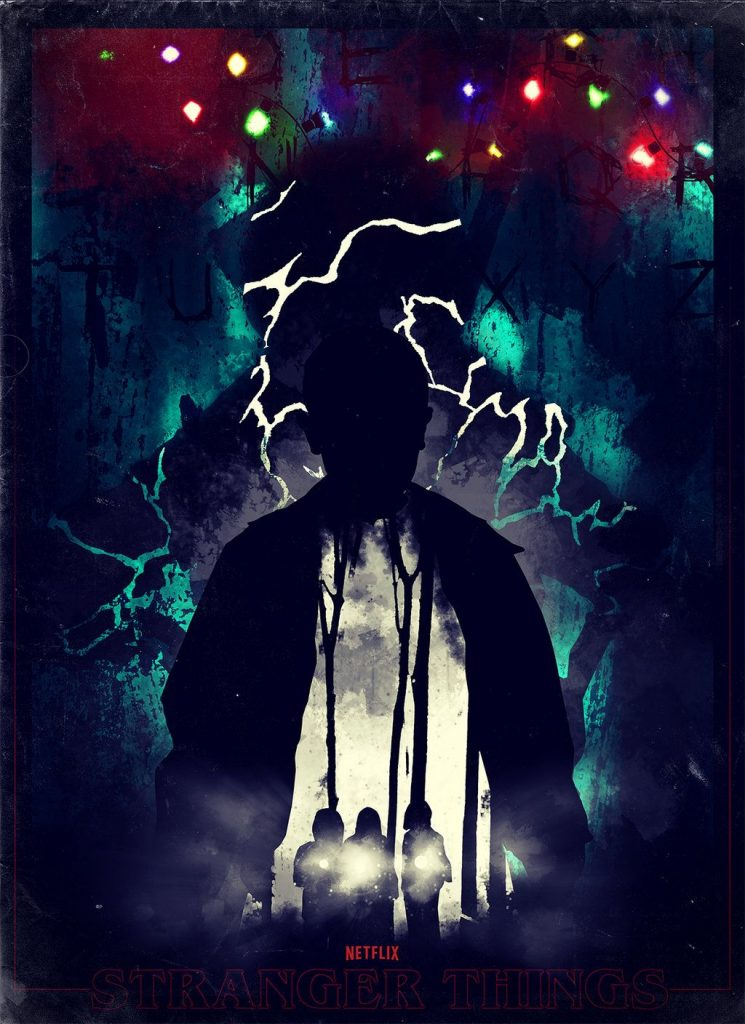 Stranger Things poster Christmas lights