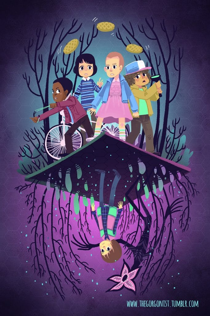 Stranger Things forest woods poster
