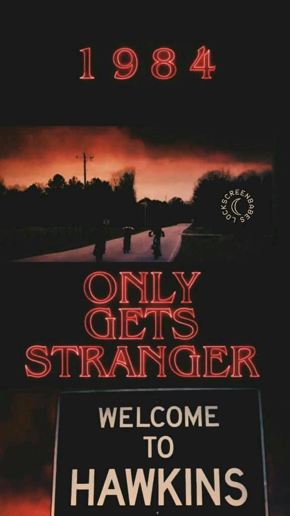 Stranger Things Hawkins town poster