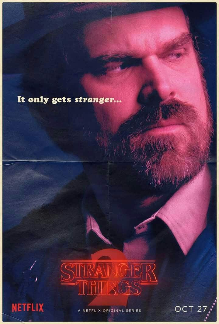 Stranger Things Jim Hopper poster