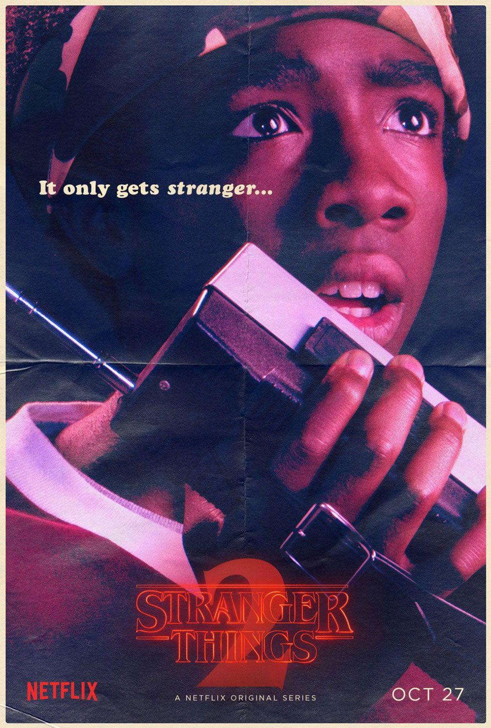 Stranger Things Lucas Sinclair poster
