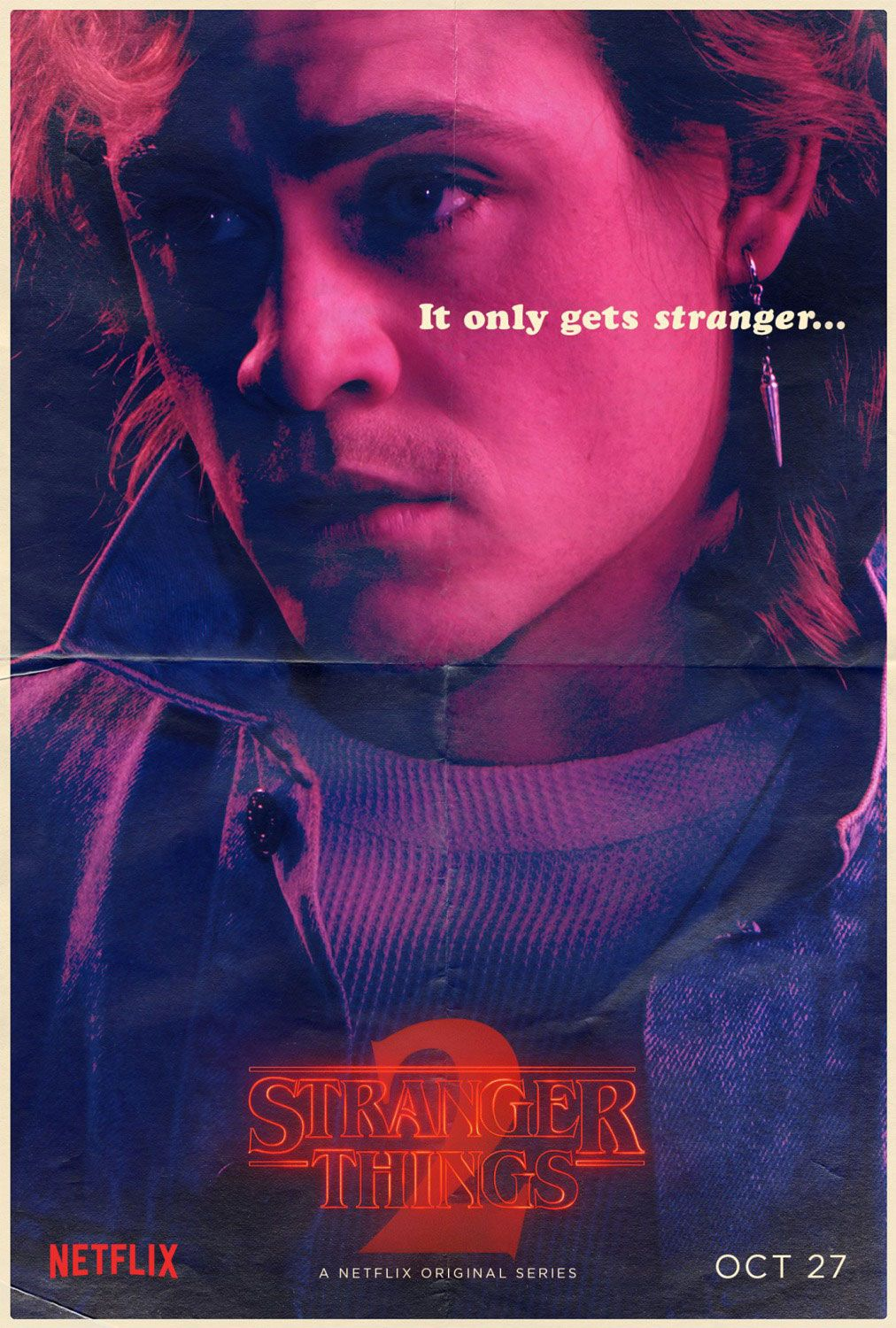 Stranger Things Billy Hargrove poster