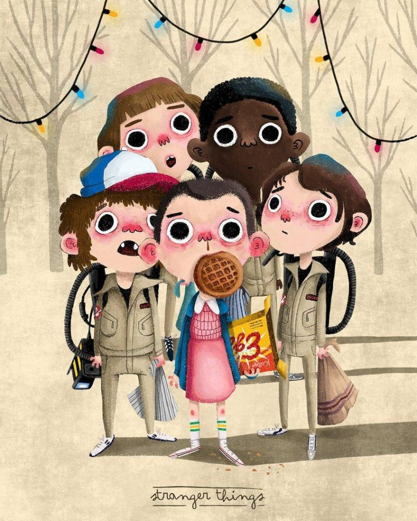 Cute Stranger Things poster