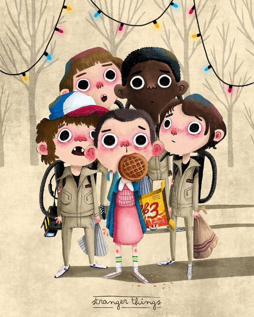 Cute Stranger Things poster