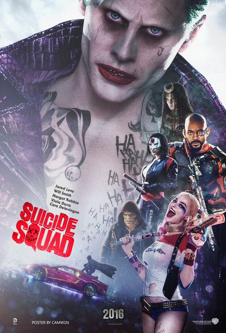 suicide squad hd printable Poster wallpaper joker all characters will smith