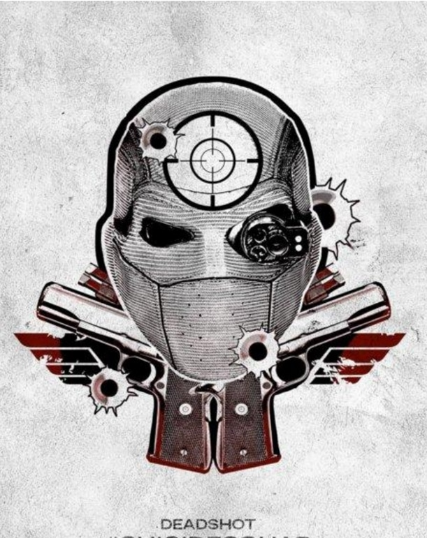 suicide squad hd printable Poster wallpaper deadshot animated cartoon art cool