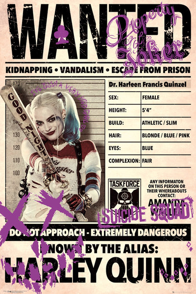 suicide squad hd printable Poster wallpaper harley quinn wanted