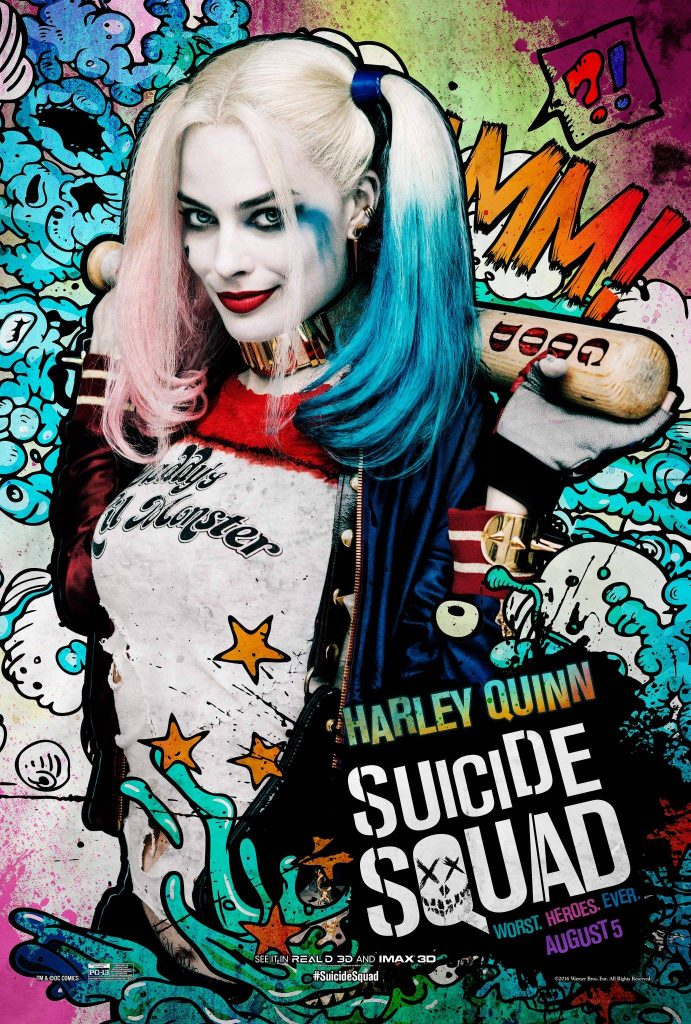 suicide squad hd printable Poster wallpaper harley quinn art cartioon robbie