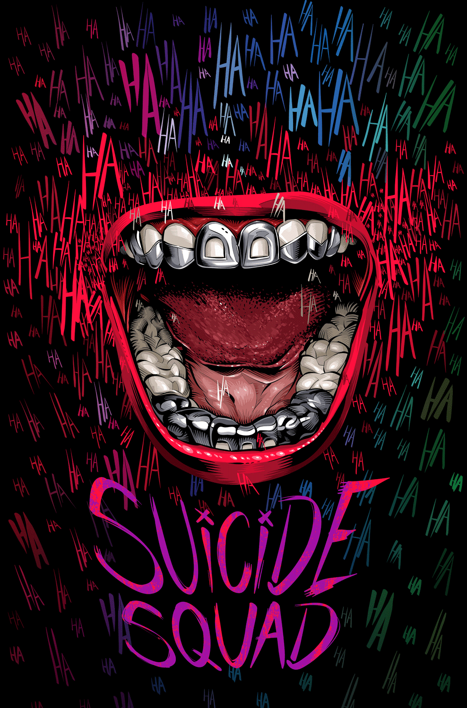 suicide squad hd printable Poster wallpaper joker laugh