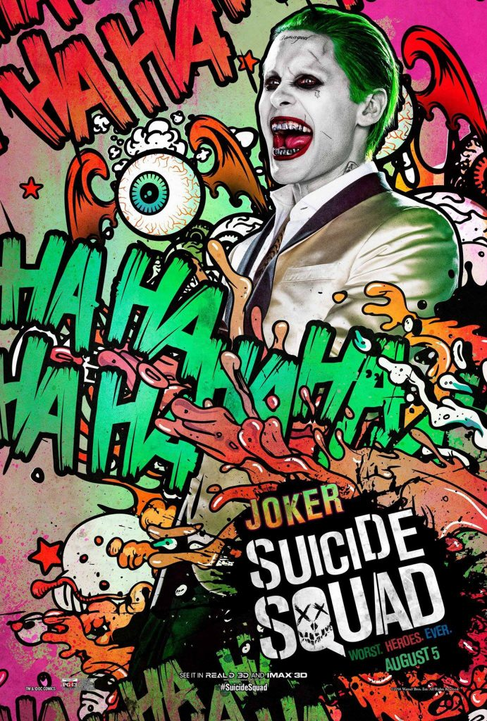 suicide squad hd printable Poster wallpaper joker laugh cartoon art animated comic look