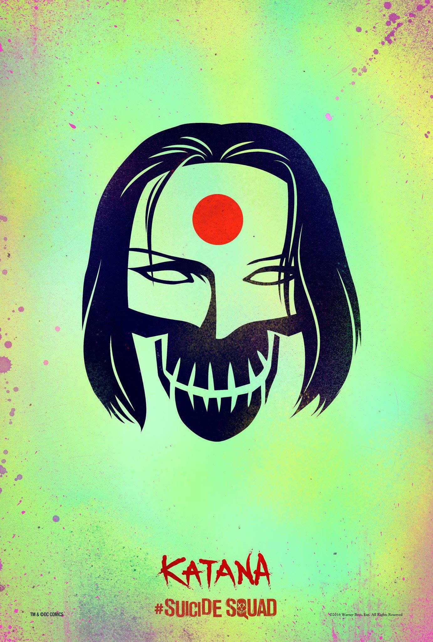 suicide squad hd printable Poster wallpaper katana animation art cartoon