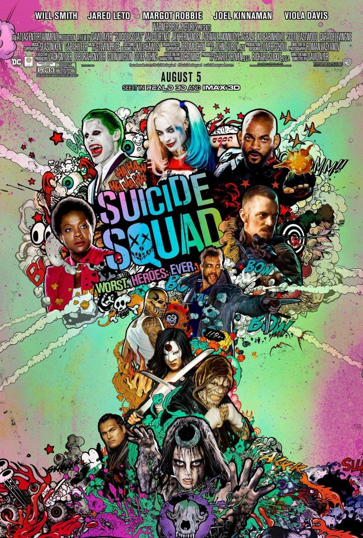 suicide squad hd printable Poster wallpaper official wallpaper whole squad team all characters