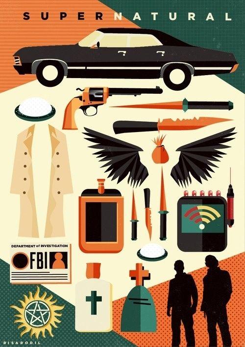 Supernatural kit poster