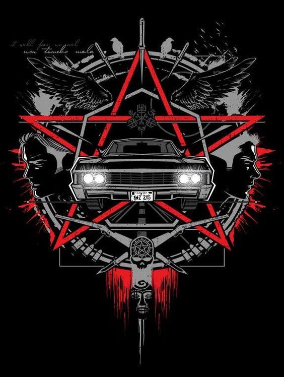 Supernatural car poster