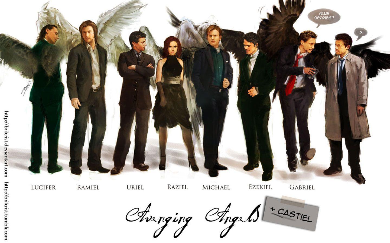 Supernatural angels posters