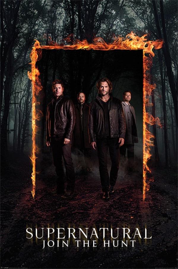 Supernatural poster dean, sam, bobby and castiel