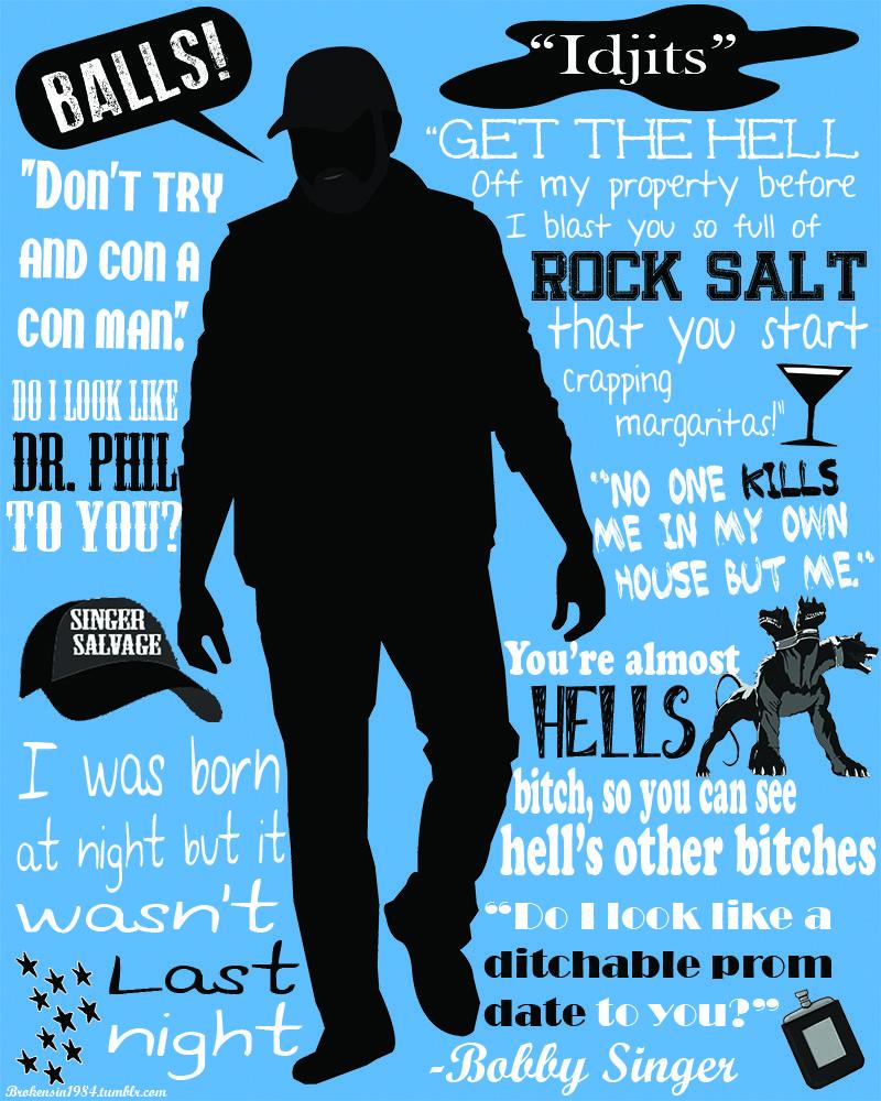 Supernatural poster Bobby Singer