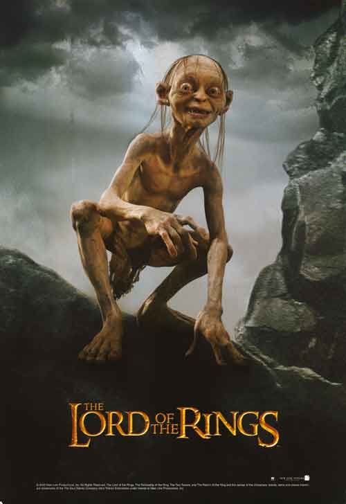the lord of the rings 1 2001 the fellowship of the ring high quality HD printable poster gollum poster