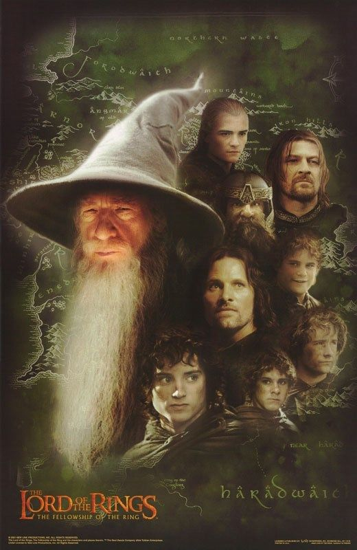 the lord of the rings 1 2001 the fellowship of the ring all characters gandalf hobbit