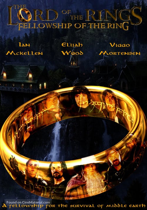 the lord of the rings 1 2001 the fellowship of the ring high quality HD printable poster the ring all characters shining
