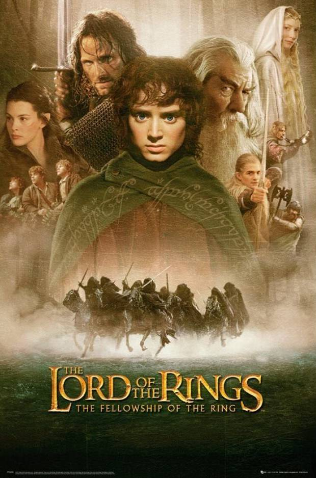 the lord of the rings 1 2001 the fellowship of the ring all characters official poster hobbit gandalf