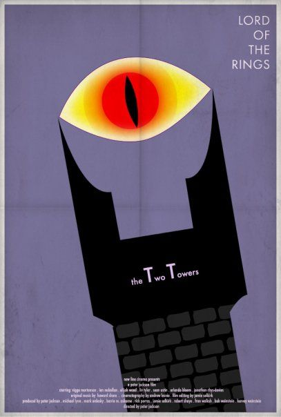 the lord of the rings poster part 1 2002 the two towers high quality HD printable animated cartoon art eye of sauron