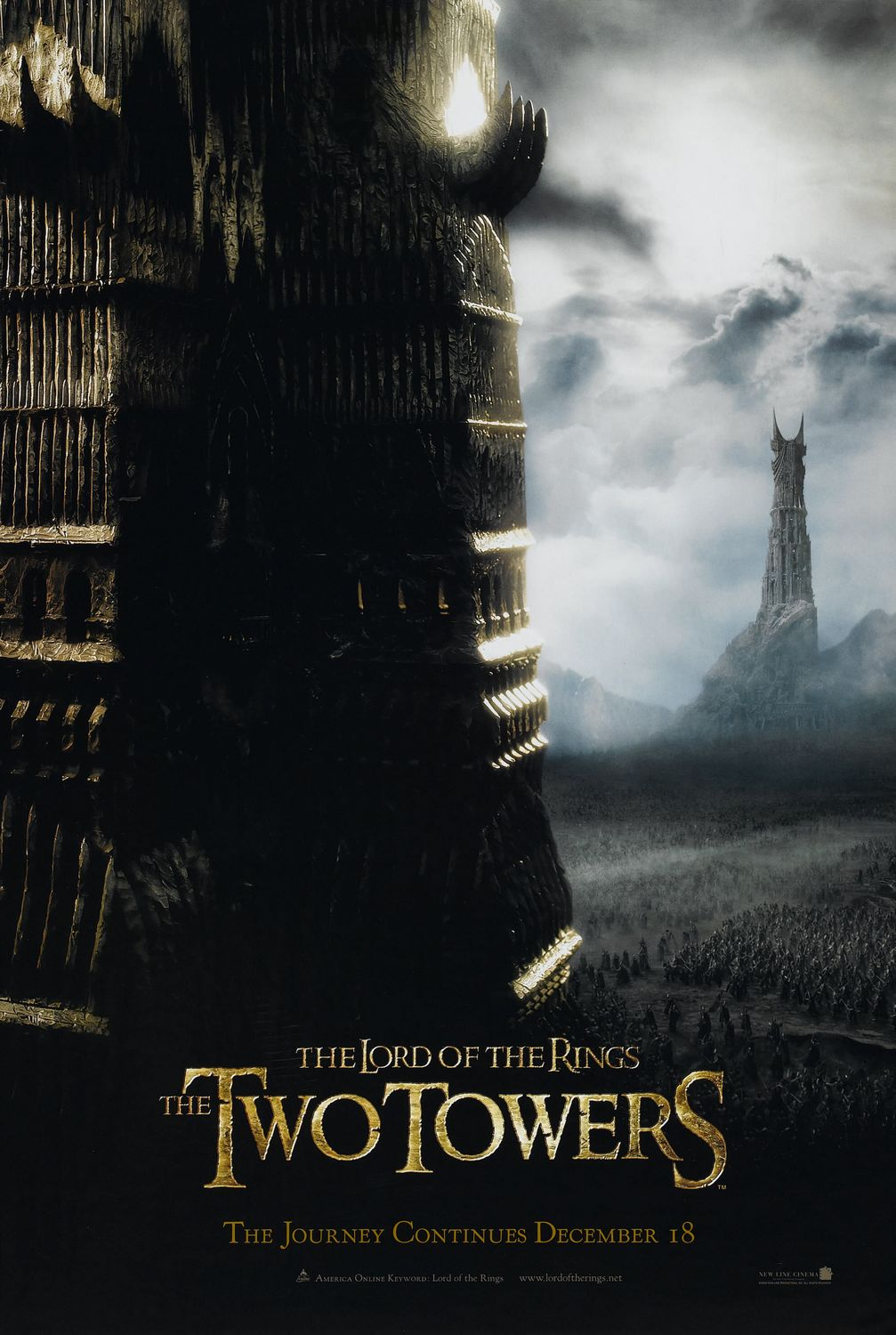 the lord of the rings poster part 1 2002 the two towers high quality HD printable the clear two towers battlefield