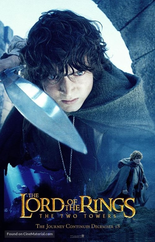 the lord of the rings poster part 1 2002 the two towers high quality HD printable frodo baggins sam